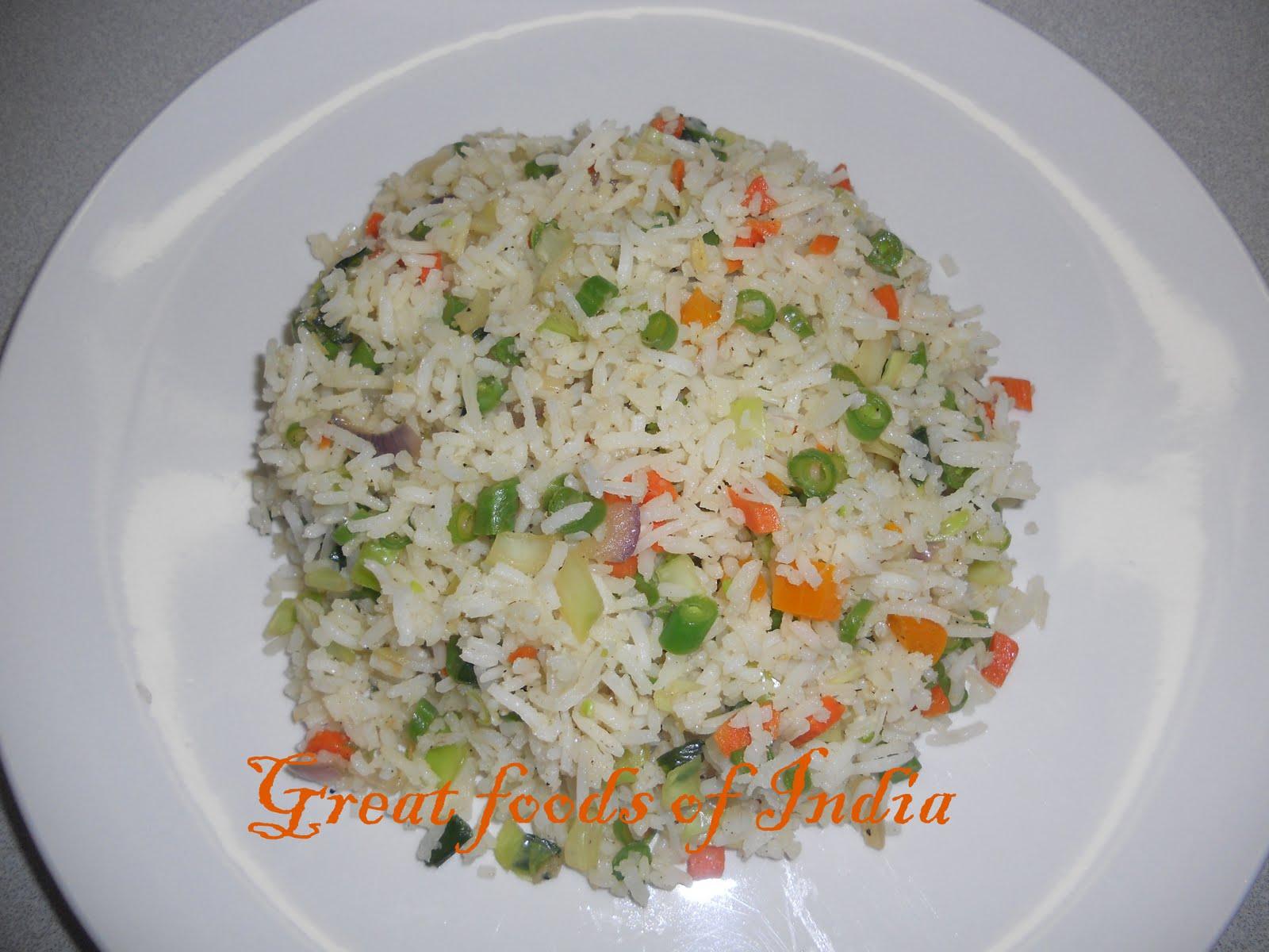 Great foods of India: Vegetable fried rice