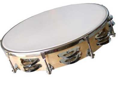 instrumentos de percusion. El pandero es un instrumento