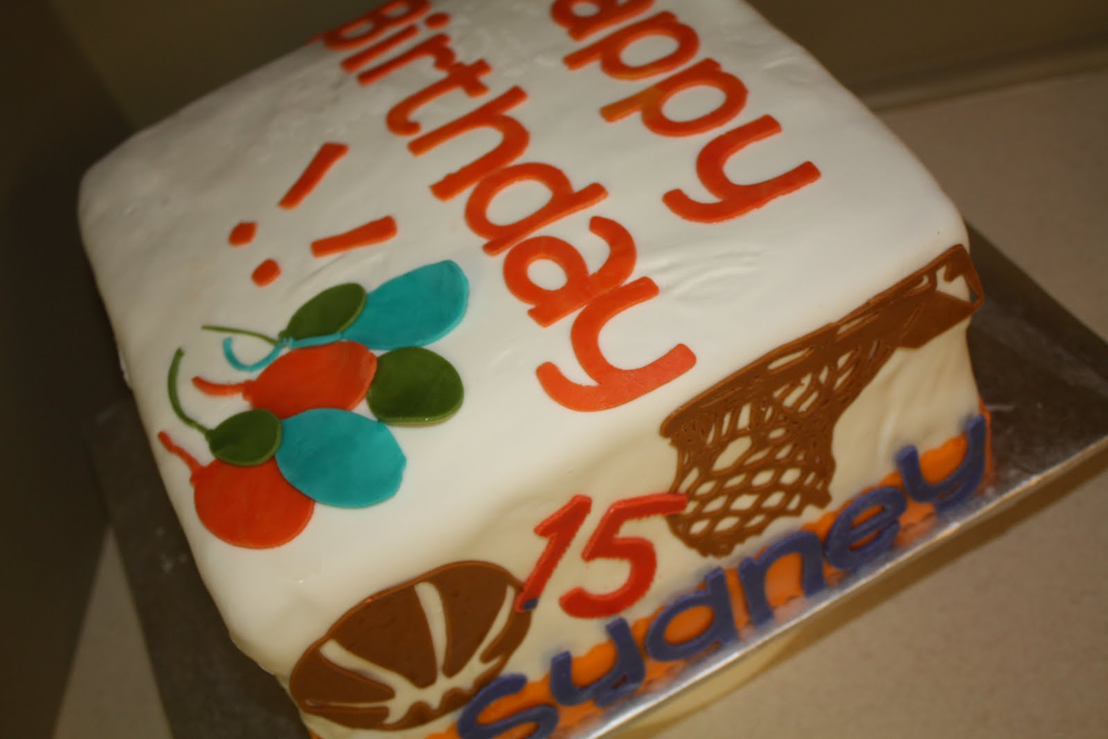 Two Sweet Bakery Fondant multiple birthdays cake