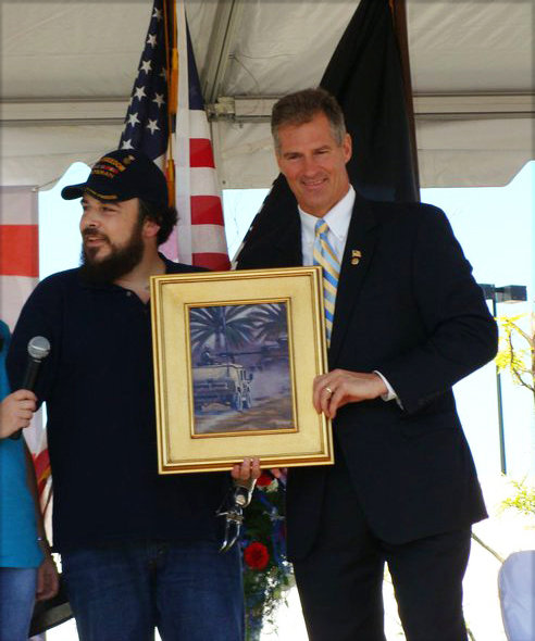 Presenting Senator Brown with a Painting, 2010.