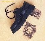 Huella con pie calzado, huella de pie con medias
