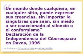 Declaracion de la Independencia del Ciberespacio