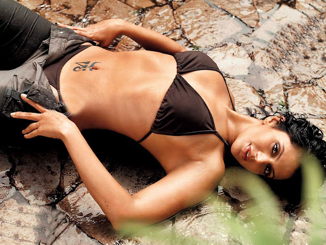 mandira bedi in swimsuit