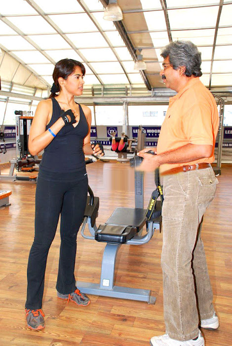 sameera reddy in gym glamour  images