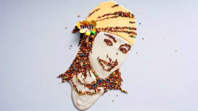 Mosaico de M&M's