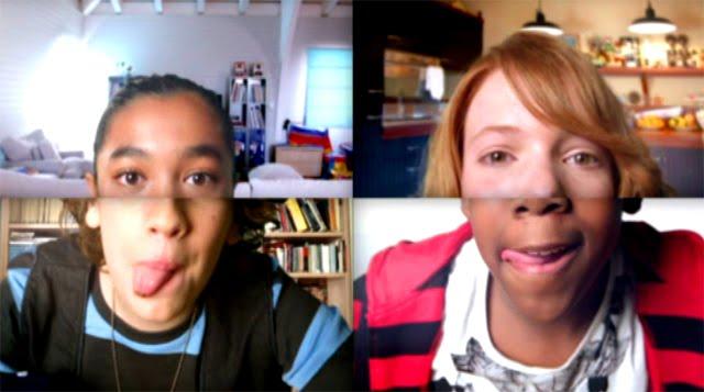 Niños juegan con sus webcams en el anuncio de Nocilla