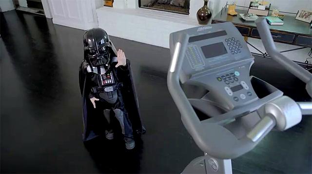 Darth Vader usando La Fuerza