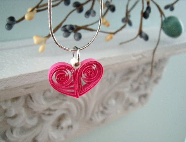 quilling heart for valentine's day