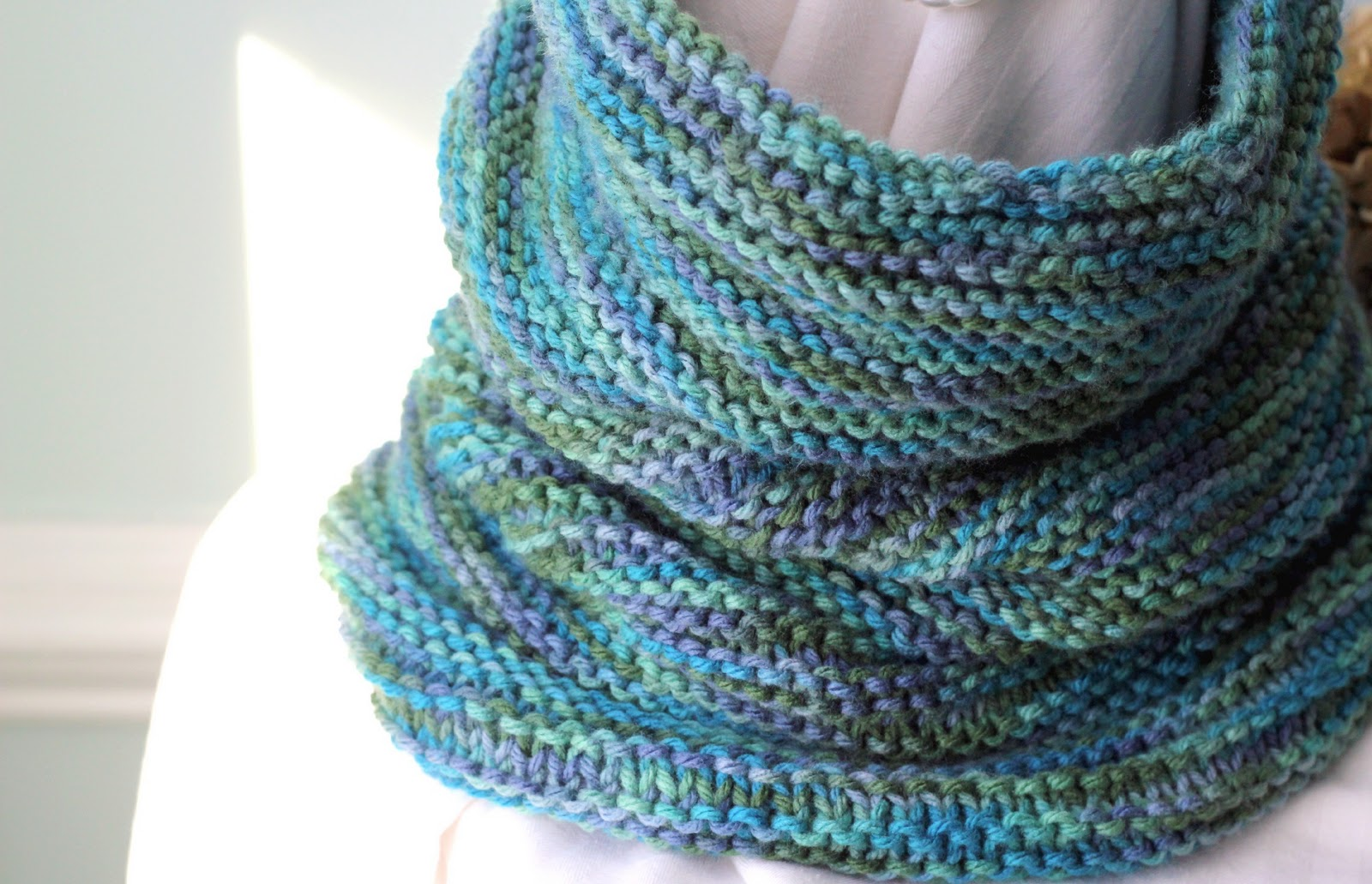Easy Cowl Knitting Patterns : With a Grateful Prayer and a Thankful Heart: Knitted Cowl