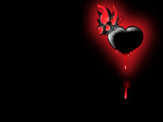 Bloody Black Love Wallpaper