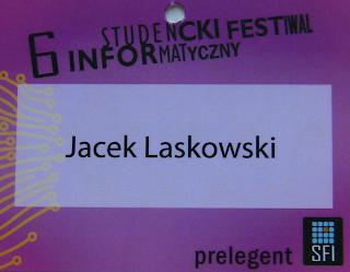 Wejściówka Jacka Laskowskiego na SFI 2010