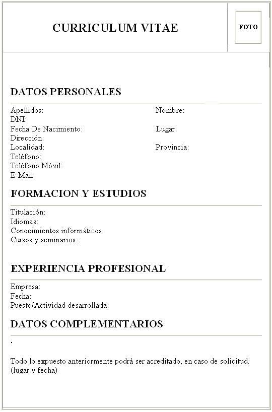 documentos de una oficina  curriculum vitae
