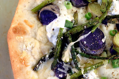 ... Photographer: Grilled Potato, Asparagus, & Lemony Goat Cheese Pizza