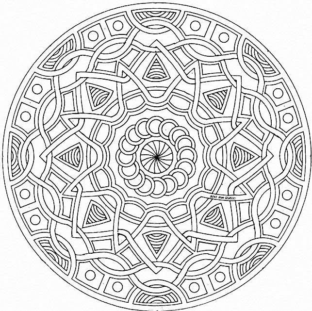 difficult mandala coloring pages - photo#8