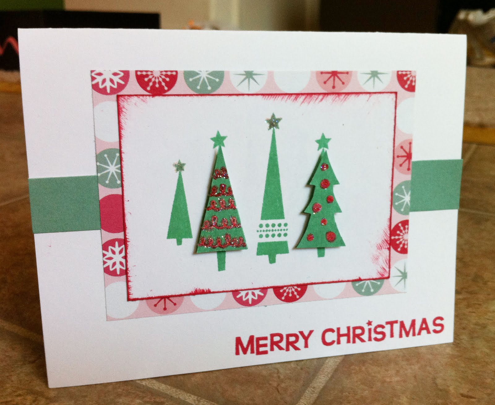 Playing with Paper: Scrapbooks, Cards & DIY: Jingle Christmas Card ...