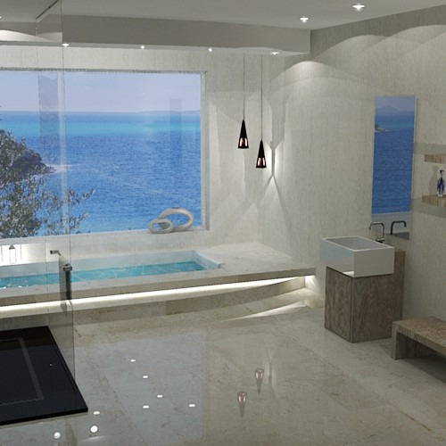 Funtastic Bathroom 3D visualization French Riviera project
