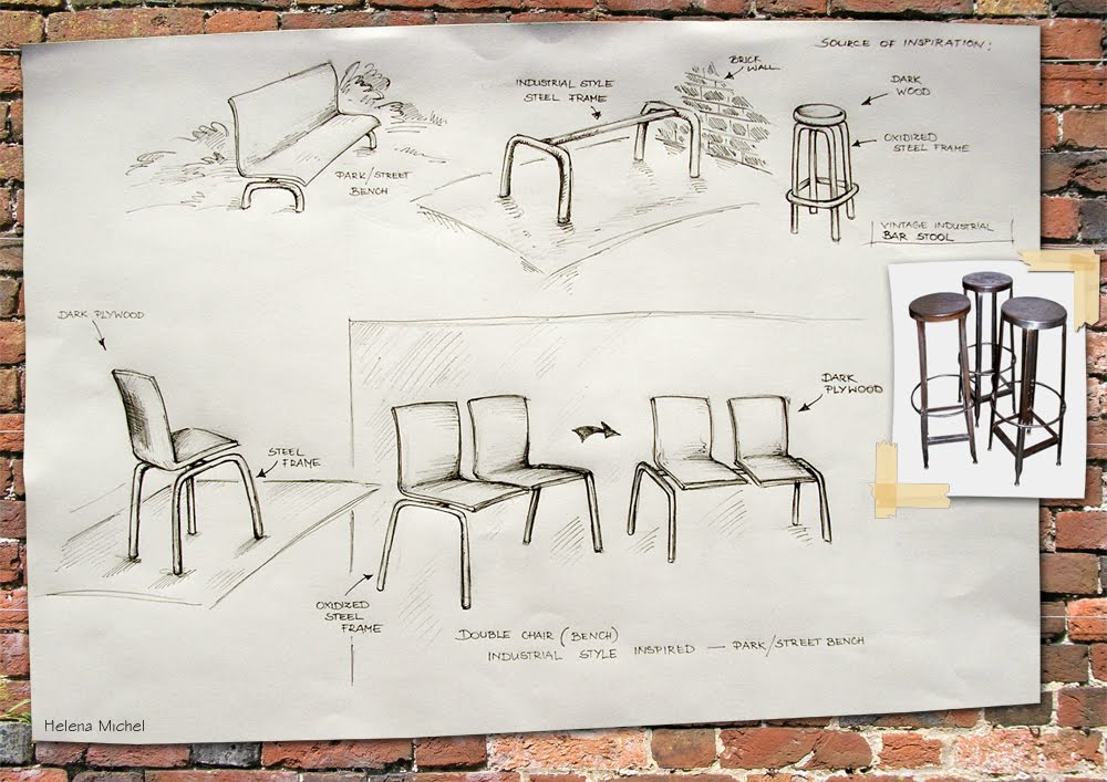 Product design drawings for Chair design drawing