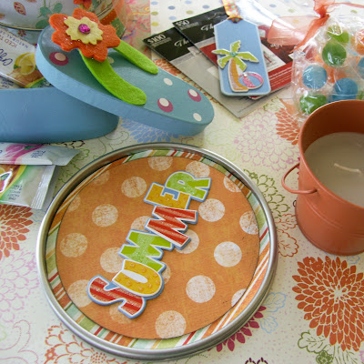 PrettyinPosies: Teacher Summer Themed Gift Can