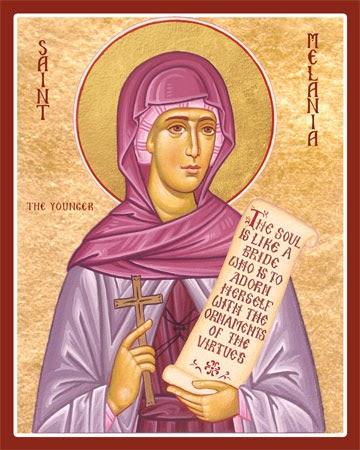 Znalezione obrazy dla zapytania saint Melanie the Younger