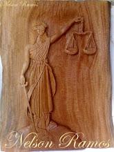 Entalho Deusa da Justiça