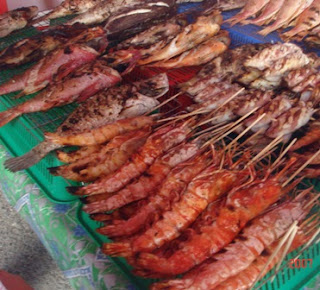 BBQ seafood @ Filipino Market, Kota Kinabalu