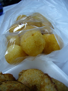Kanom Kai Noak Garta / Fried Sweet Potato Ball @ Bangkok Street Food