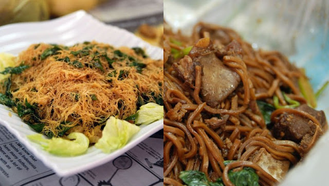 Buttery Squid and Fried Pork Yee Mee @ Mama's Kitchen, TTDI, KL
