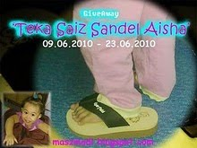 Giveaway 'Teka Saiz Sandel Aisha'