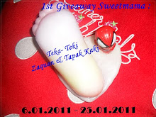 1ST GIVEAWAY SWEETMAMA: TEKA TEKI ZAQUAN & TAPAK KAKI