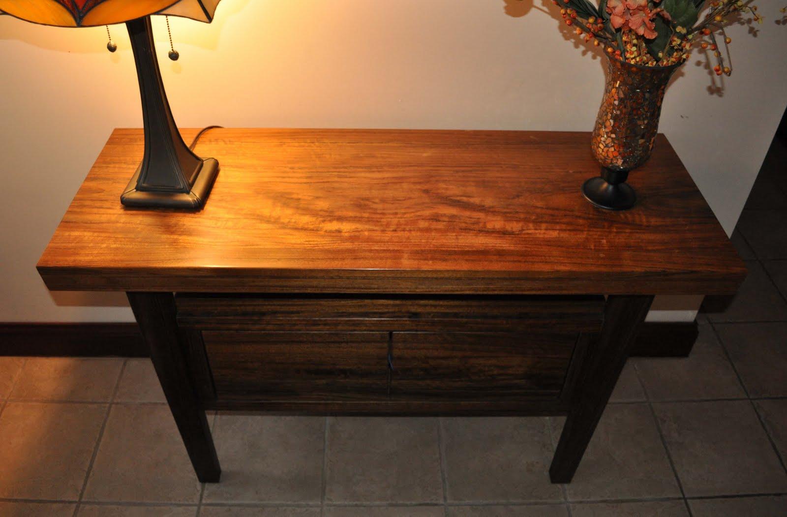 Eiesland r d foyer table in ovangkool - Table vitroceramique 2 foyers ...