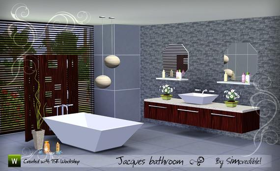 My sims 3 blog jacques bathroom set by simcredible for Bathroom design simulator