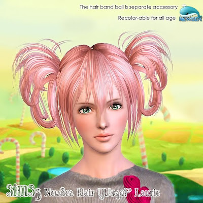 Kids Hair Donation on My Sims 3 Blog  Newsea Sims3 Hair Yu040f Laurie  Donate