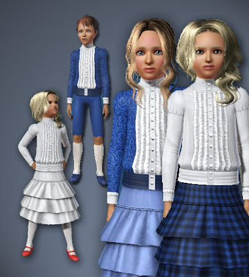 Historical clothing and shoes for boys and girls by All About Style FCblousewithruffles_AAS