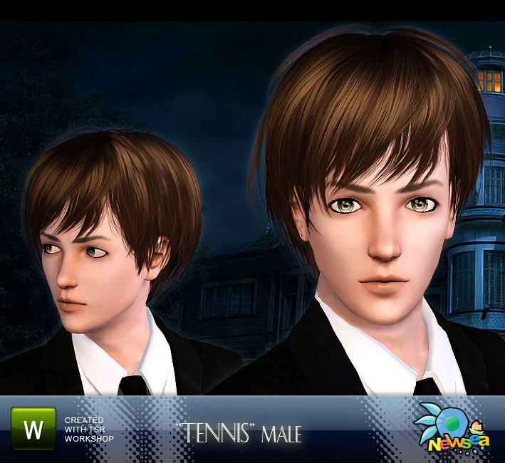 Newsea Tennis Hairstyle. Download at The Sims Resource - Subscriber only