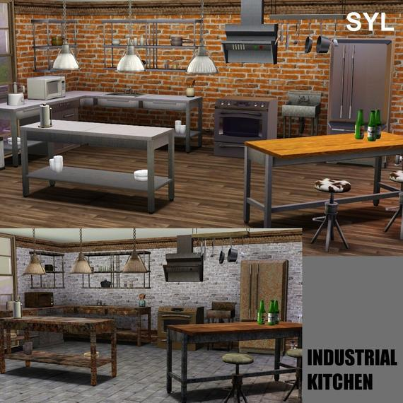 Charming Industrial Kitchen Set By Eryt96