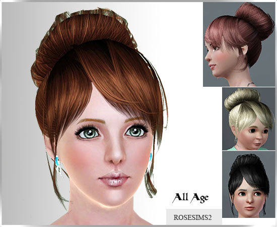 soccer hairstyles for girls : download at rose sims file names rose sims3 hair053 af rose sims3 ...
