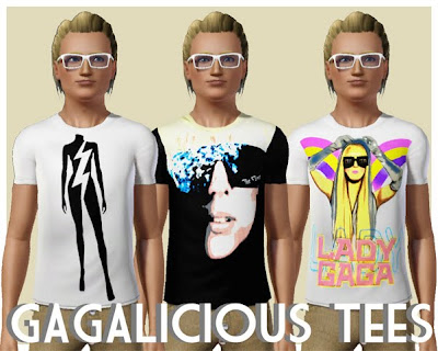 Five Lady GaGa T-Shirts by