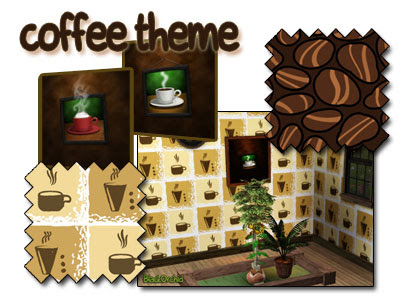 My Sims 3 Blog: Coffee Theme - Paintings and Patterns