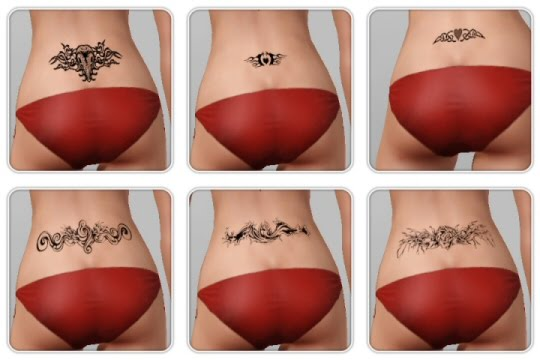 Female back Tattoos by Andrei. Download at The Sims Key. Labels: Tattoos