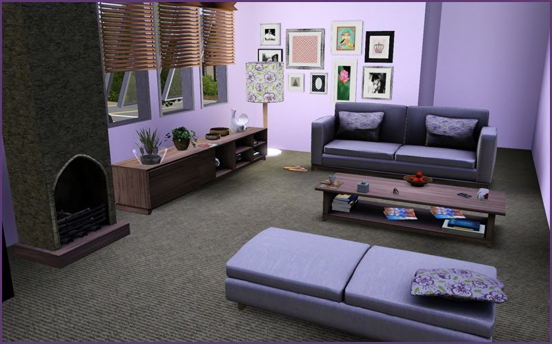 My Sims 3 Blog Lilac Living Room By Jonesi