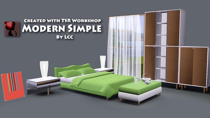 My Sims 3 Blog Modern Simple Bedroom Set By Lchenchen