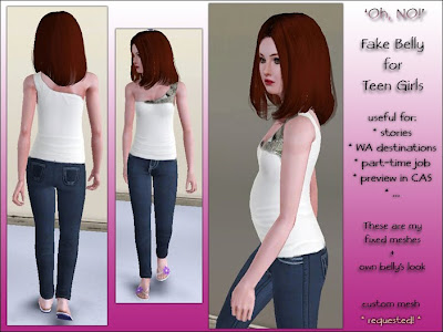 Sims 3 fun time prego teen shirt and how to make them a teen mom