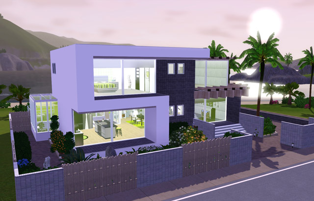 My sims 3 blog s frame modern by anjubee for Classic house sims 3