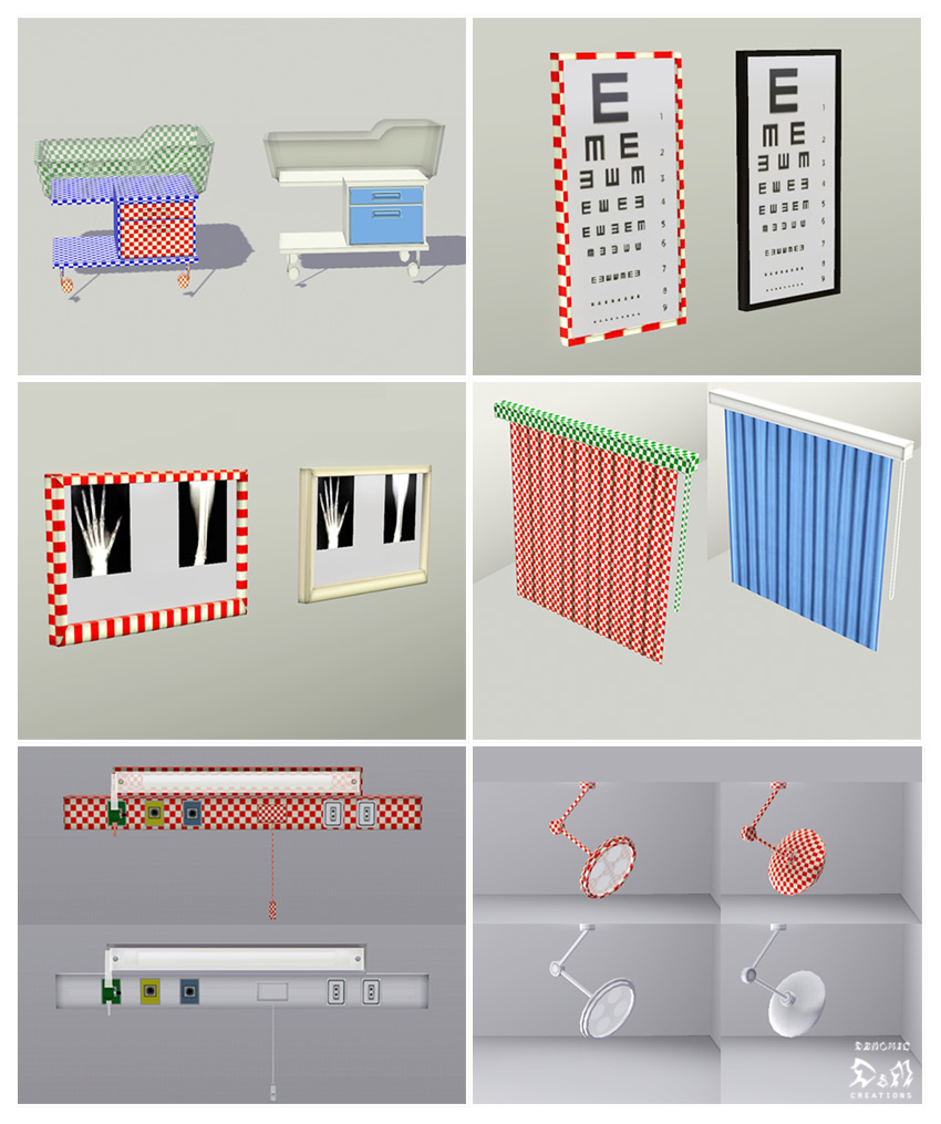 My Sims 3 Blog Hospital Set By Hekate999