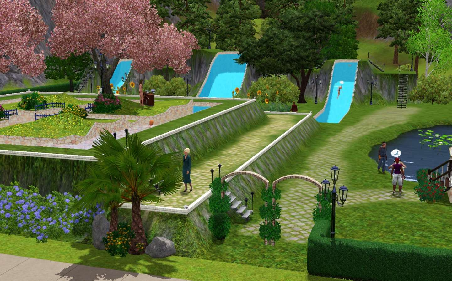 My Sims 3 Blog Aqua Garden Land Community Lot by Canelline