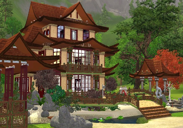 traditional chinese house my sims 3 blog chinese house ii by jarkad