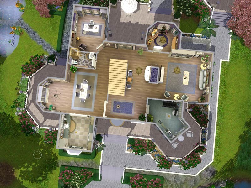 My sims 3 blog wisteria hill a grand victorian estate by for Sims 4 house plans