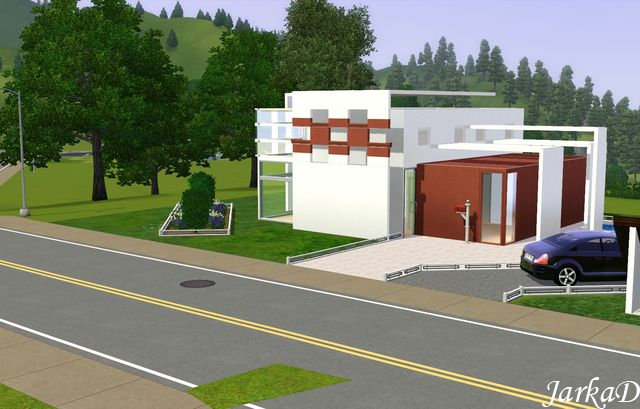 My sims 3 blog new lots by jarkad for Minimalist house sims 3
