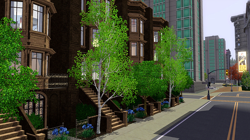 My sims 3 blog historic brownstone apartments lot for the for Apartment design sims 3
