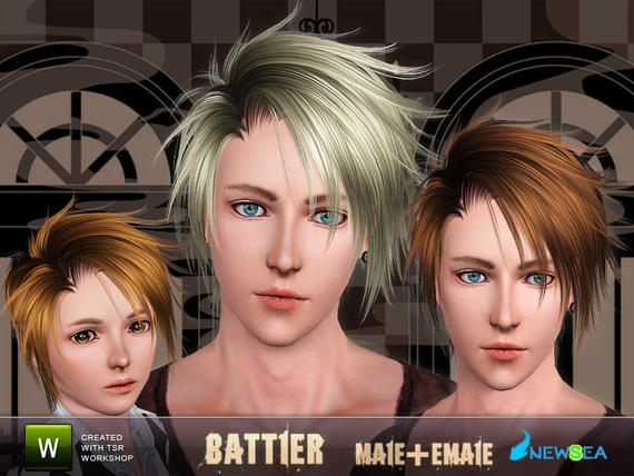 Newsea Battler Hairstyle. Download at The Sims Resource - Free